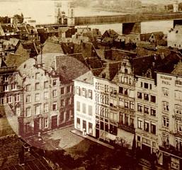 Kupferstich mit alter Ansicht von Peters Brauhaus